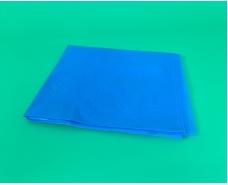 Скатерть полиэтиленовая одноразовая (120x200)  синяя (1 шт)