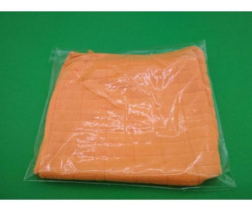 Cалфетка из Микрофибры 30*30 Оранжевая  (1 шт)
