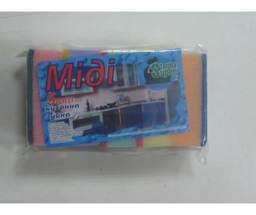 Мочалка для посуды 5шт Супер торба ( Миди) (1 пач)