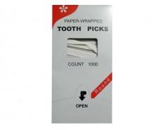 Зубочистка в индивидуальной бумажной упаковке  (1000шт) Китай (1 пач)