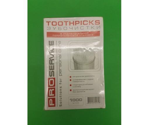 Зубочистка в упаковке  (1000шт) PRO (1 пач)
