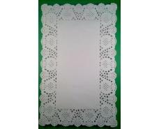 Салфетки ажурные  прямоугольные 19*30(100шт) (1 пач)