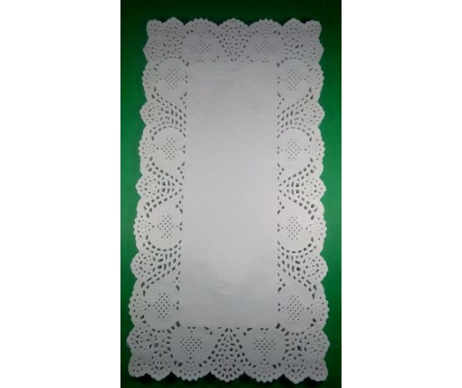 Ажурная прямоугольная салфетка 20*38(100шт) (1 пач)
