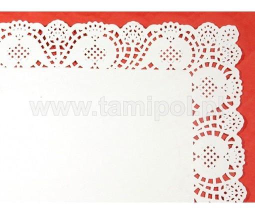 Ажурные салфетки  прямоугольные 32х45(100шт) (1 пач)