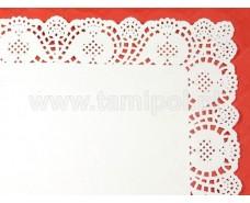 Прямоугольные салфетки ажурные 36х45(100шт) (1 пач)