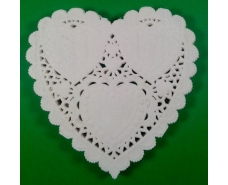 Салфетка ажурная в форме сердца Ф10(100шт) (1 пач)
