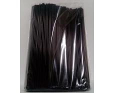 Трубочка d3-25см  Махито черная  (500 шт)