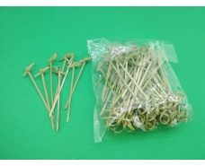 Палочки бамбуковые с узелком 10см,100 шт (1 пач)