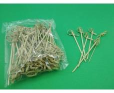 Шпажки бамбуковые с узелком 12см,100 шт (1 пач)