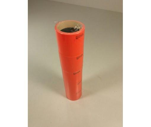 Бумажный  большой ценник Красный  (р30*40мм) 3,5м (5 шт)