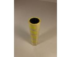 Бумажный ценник маленький желтый  (р15*25мм)  3м (5 шт)