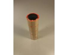 Бумажный  маленький ценник красный  (р15*25мм)  3м (5 шт)