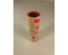 Ценник маленький бумажный малиновый  (р15*25мм)  3м (5 шт)