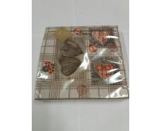 Праздничная салфетка (ЗЗхЗЗ, 20шт) Luxy  Резные сердца 111 (1 пач)