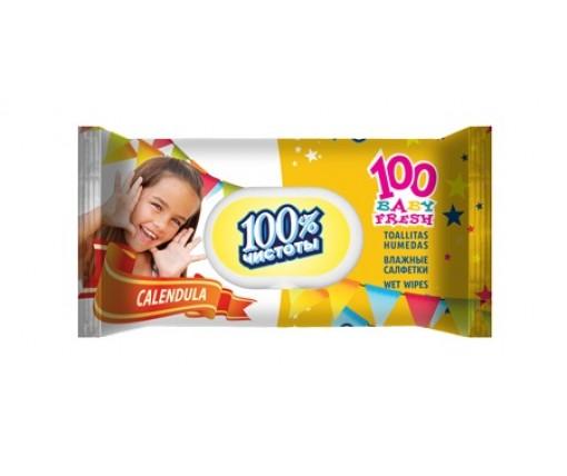 Влажная салфетка 100шт