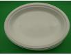 Овальная тарелка одноразовая пластиковая 260 mm белая (50 шт)