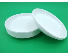 Тарелка пластиковая одноразовая d=205 мм  (100 шт)