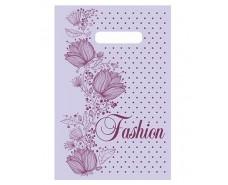 """Пакет с прорезной ручкой (20*30)""""Fashion цветы""""Леоми (100 шт)"""