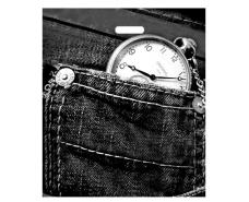 """Пакет с прорезной ручкой (45*52+3)""""Джинс TIME"""" Леоми (50 шт)"""