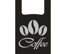 "Пакеты Майка п\э (28+2*7,5х49)"" черный Кофе"" (100 шт)"
