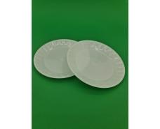 Тарелка пластиковая стекловидная размер 160мм   Белая (10 шт)