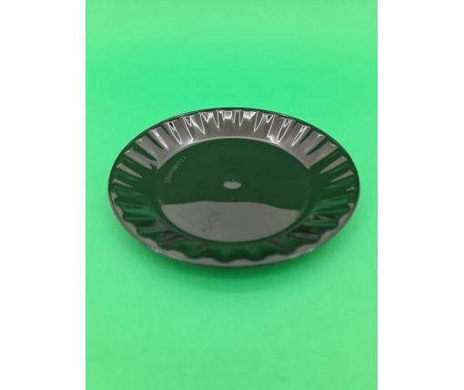 Одноразовая тарелка стекловидная Кристал 160мм Черная (10 шт)