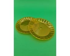 Тарелка стекловидная одноразовая  160мм  Оранжевая (10 шт)