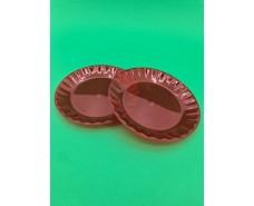 Десертная стекловидная тарелка размер 16см  Красная (10 шт)