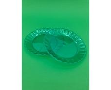 Стекловидная тарелка пластиковая диаметр 160мм Зеленая (10 шт)
