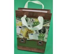 Пакет бумажный подарочный  МИНИ 8*12*3.5 арт39 (12 шт)