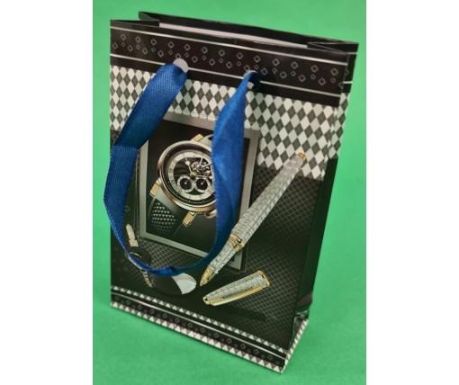 Пакет бумажный подарочный  МИНИ 8*12*3.5 арт34 (12 шт)