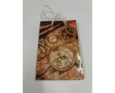 Пакет бумажный подарочный  МИНИ 8*12*3.5 арт36 (12 шт)