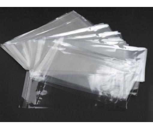 Пакет прозрачный полипропиленовый + скотч   9*22,5+4\25мк +скотч (1000 шт)