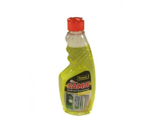 Моющее средство для стекла и зеркал  САМА лимон 500г (запаска) (1 шт)