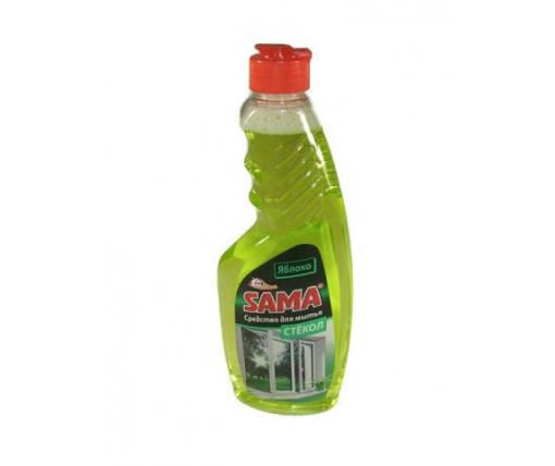 Моющее средство для стекла и зеркал  САМА яблоко 500г (запаска) (1 шт)