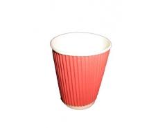 """Стакан бумажный для кофе и чая 250мл """"Гофра"""" """"Красный"""" (20 шт)"""