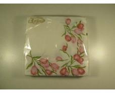 Праздничная салфетка (ЗЗхЗЗ, 20шт)  La Fleur  Узор из тюльпанов 507 (1 пач)