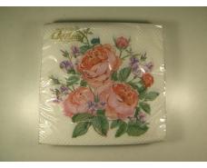 Праздничная салфетка (ЗЗхЗЗ, 20шт)  La Fleur  нежная композиция 500 (1 пачка)