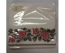 Дизайнерская салфетка (ЗЗхЗЗ, 20шт)  La Fleur Класическая вышивка (1 пач)