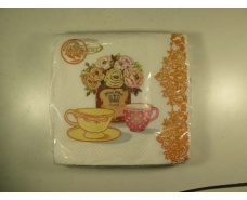 Салфетка декор (ЗЗхЗЗ, 20шт)  La Fleur Чайная композиция 1001 (1 пач)