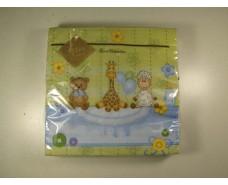Салфетка для декора (ЗЗхЗЗ, 20шт) Luxy  Для малыша 1007 (1 пач)