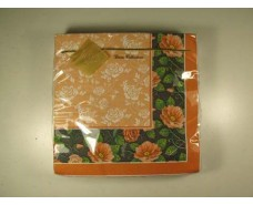 Дизайнерская салфетка (ЗЗхЗЗ, 20шт) Luxy  Розарий 812 (1 пач)
