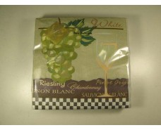 Салфетка для декора (ЗЗхЗЗ, 20шт) Luxy  Белое вино 705 (1 пач)
