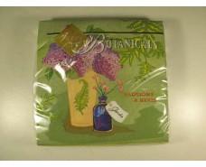 Дизайнерская салфетка (ЗЗхЗЗ, 20шт) Luxy  Ботаника 703 (1 пач)