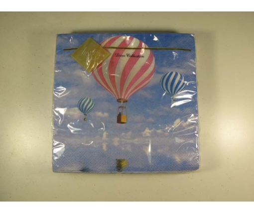 Дизайнерская салфетка (ЗЗхЗЗ, 20шт) Luxy  Воздушные шары 116 (1 пач)