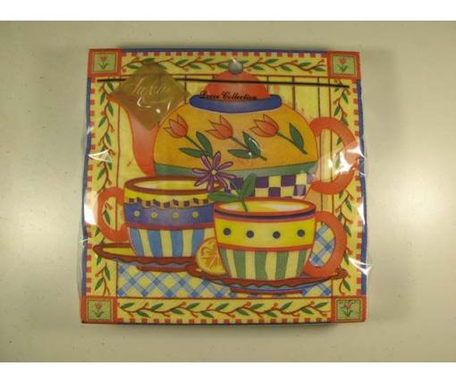 Дизайнерская салфетка (ЗЗхЗЗ, 20шт) Luxy  Чай для двоих 122 (1 пачка)