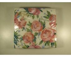 Дизайнерская салфетка (ЗЗхЗЗ, 20шт)  La Fleur  Розовые Пионы (505) (1 пач)