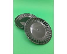 Одноразовая тарелка  стеклоподобная диаметр 205 мм  черная (10 шт)