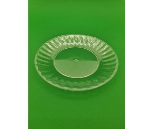 Одноразовая тарелка  стеклоподобная диаметр 205 мм  прозрачная (10 шт)