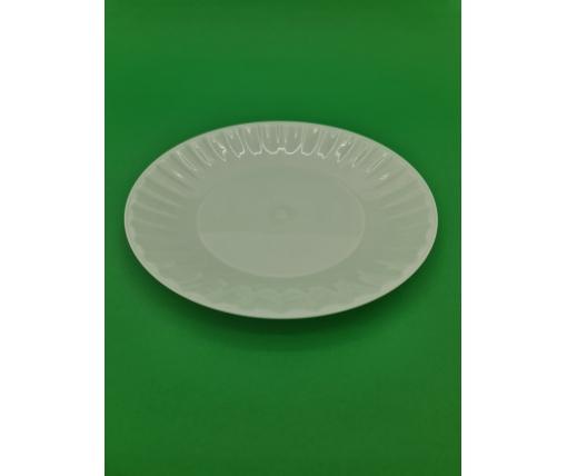 Одноразовая тарелка  стеклоподобная диаметр 205 мм  белая (10 шт)